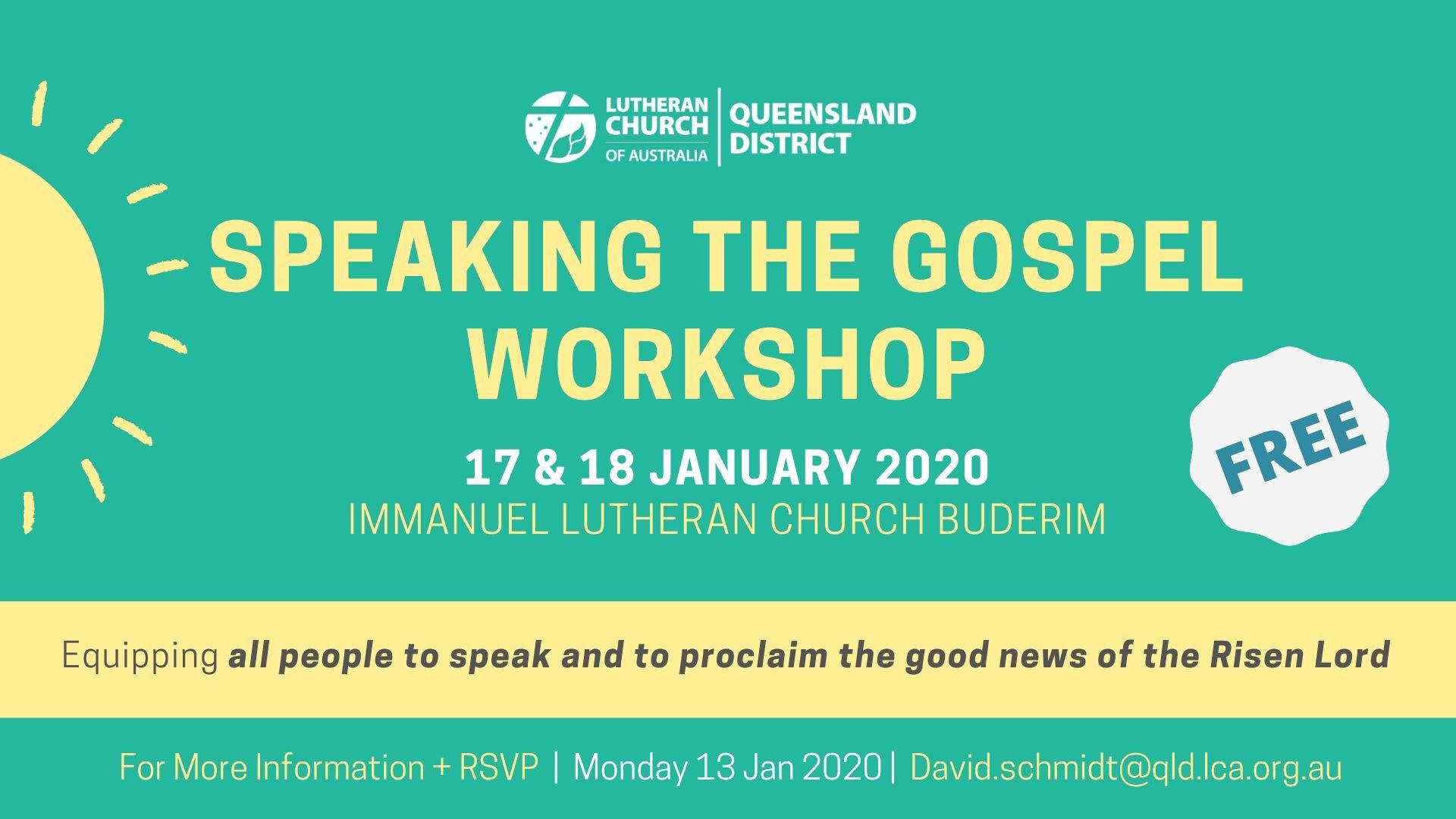 Speaking The Gospel Workshop 2020
